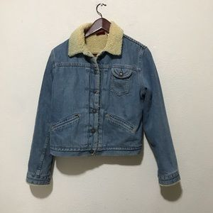 Levi's Denim Sherpa Jacket Size Medium